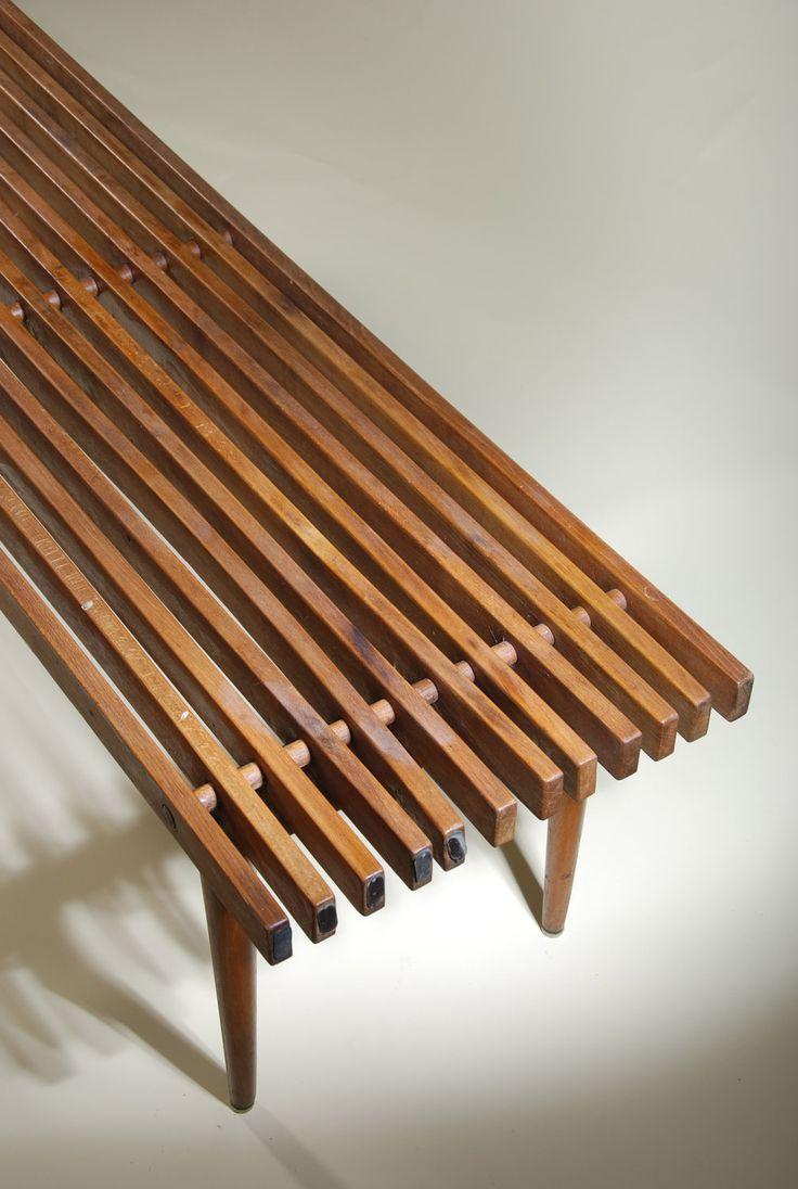 Midcentury Modern bench...make miniature!