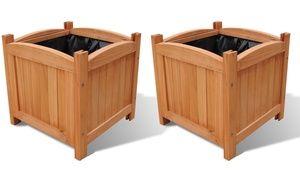 Groupon - Set da 2 fioriere in legno a 29,90 € (40% di sconto). Prezzo deal…