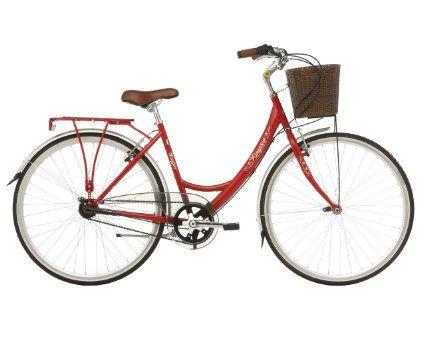 """Kingston - Bicicleta de ciclismo para mujer, tamaño 16"""", color rojo: Amazon.es: Deportes y aire libre"""