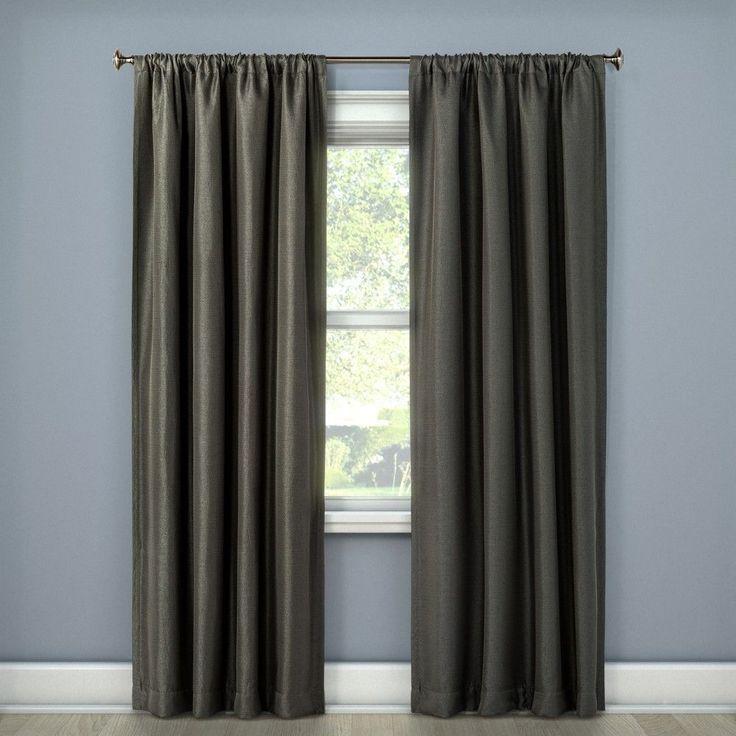 "Lorcan Light Blocking Curtain Panel Dark Gray (52""x108"") - Eclipse"
