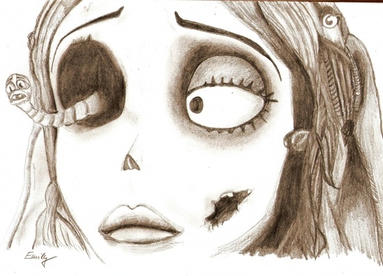 Emily the corpse bride:) luv everything done by tim burton!!!