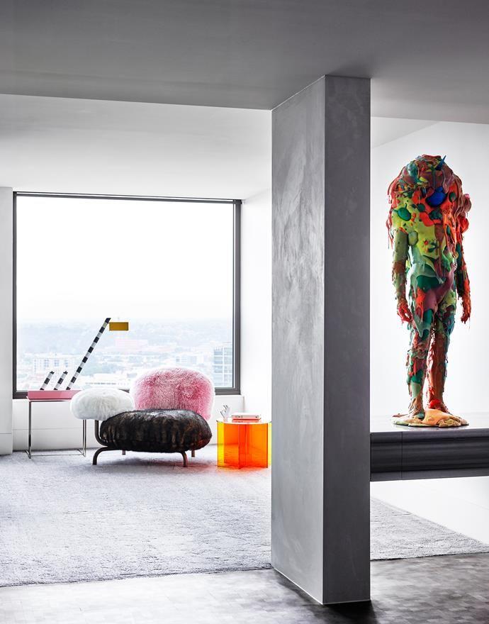 Melbourne penthouse apartment.   Photo: Richard Powers   Story: Belle
