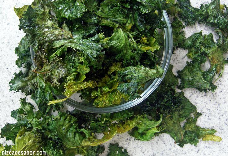 Cómo hacer chips de kale o col berza – Snack bajo en calorías