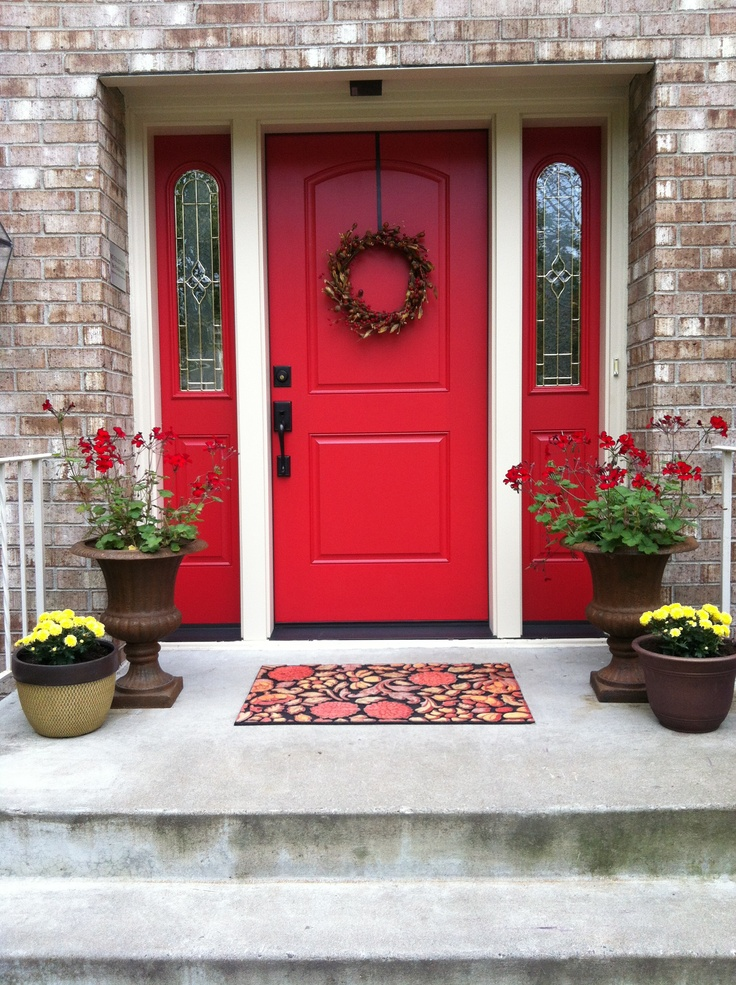 best 25 red front doors ideas on pinterest exterior door trim front doors and red doors. Black Bedroom Furniture Sets. Home Design Ideas