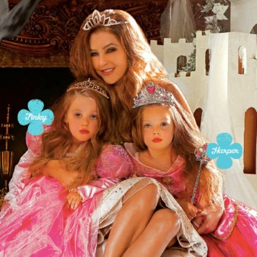 Lisa Marie Presley with Elvis' youngest twin Granddaughters in People Magazine