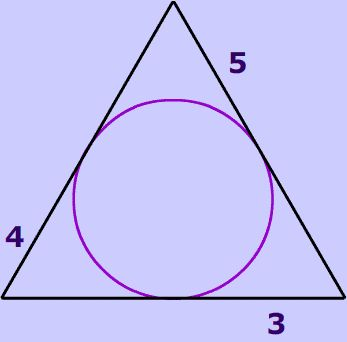 What is perimeter of given triangle? 2 tangents to a circle from the same point are the same length