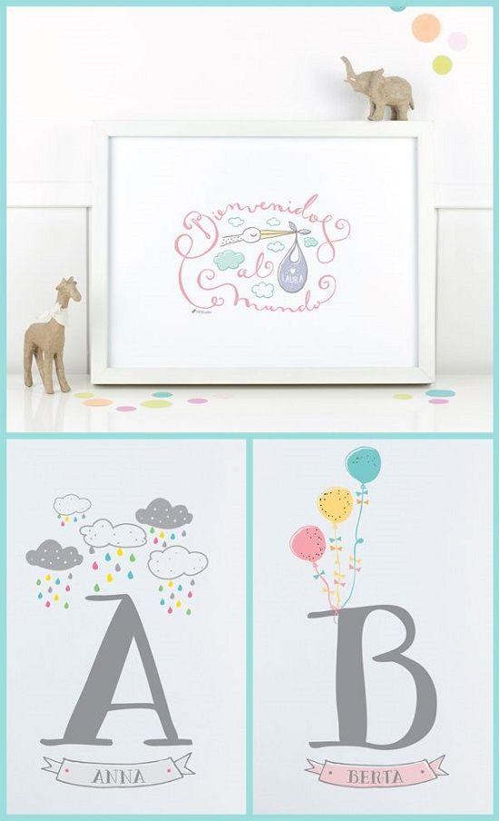 Cuadros bebe de Project Party Studio. http://www.mamidecora.com/cuadros%20infantiles.%20Project%20Party%20Studio.html