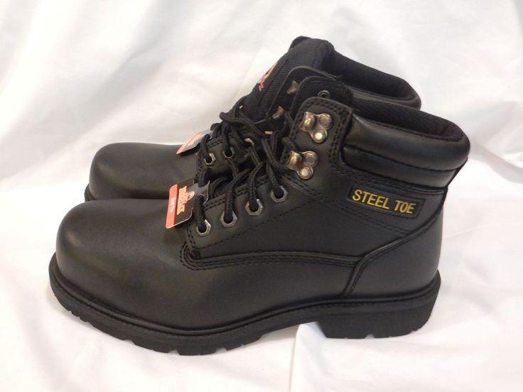 Steal Toe Brahma Oil & Slip Resistant Size 7 1/2 Black Safety Work Boots NEW #BRAHMA #WorkSafety