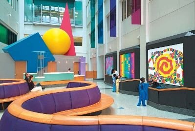 Lobbies for children hospitals the children 39 s hospital - Interior design philadelphia pa ...