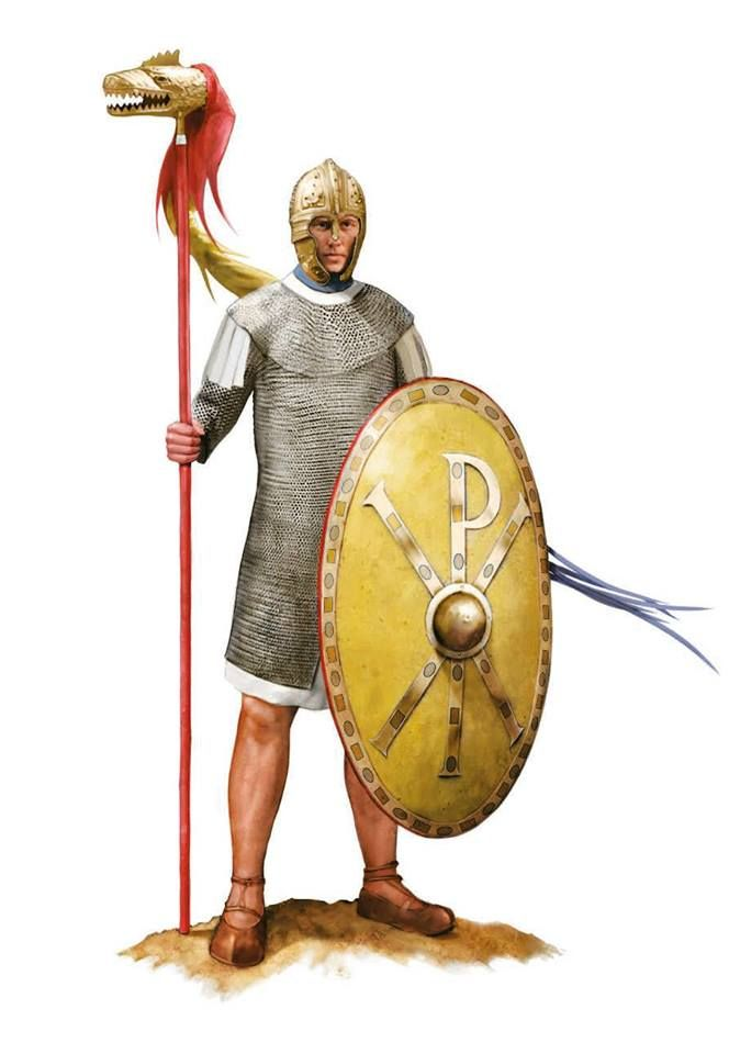 Roman draconarius, end of 4th century AD. Artwork by Tom Croft.