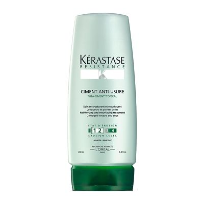 Kérastase Resistance Ciment Anti-Usure Treatment Level 1+2 is a daily conditioner that rebuilds and strengthens brittle and very damaged hair.  - New and improved formula rebuilds...