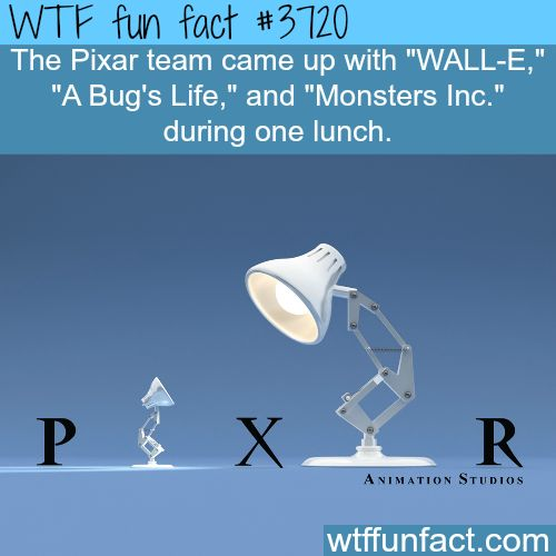 Some amazing facts about Pixar -  WTF fun facts