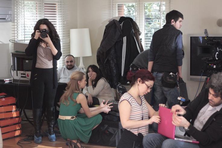 Hadise'li Tv reklamımızın kamera arkasından bir kare...