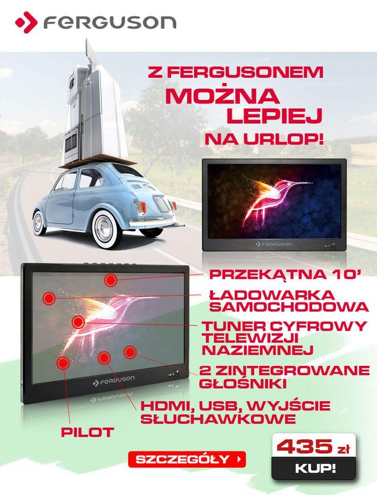 Telewizja kiedy chcesz i gdziekolwiek jesteś - Ferguson PHT-1008 - http://sklep.ferguson.pl/telewizor/10cali/DVB-T