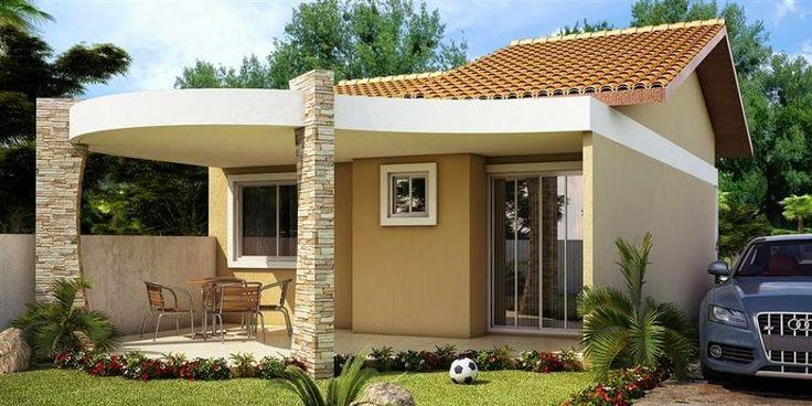 Fachadas para casas pequenas