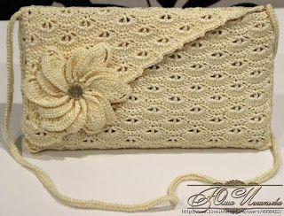 Tina's handicraft : crochet purse with flower