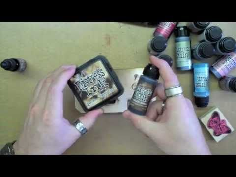 Distress stain video by Tim Holtz