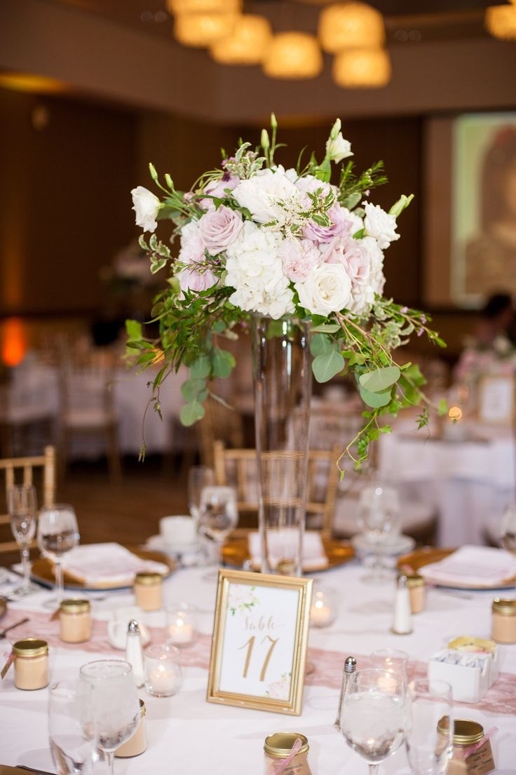 370 best fancy florals by nancy images on pinterest tall pilsner vase centerpiece arrangements with blush and mauve blooms reviewsmspy