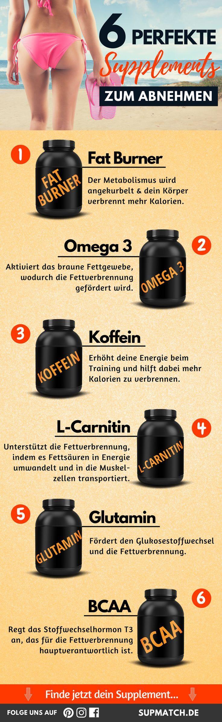 6 perfekte Supplements zum Abnehmen.