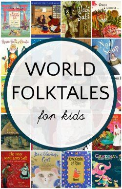 """Book lists of world folktales for kids.. """"Many different language arts skills can be supported by cultural studies"""" (Herrell & Jordan, 2016)."""