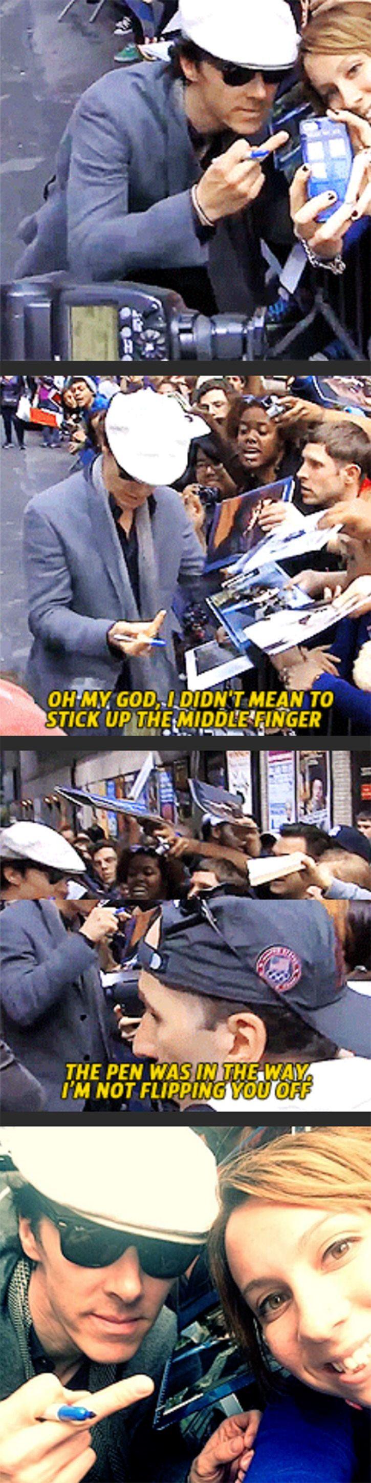 Cumberbatch with his Cumberbitches.