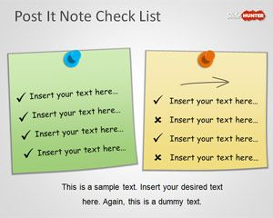 PowerPoint Check List Template with Post It Notes