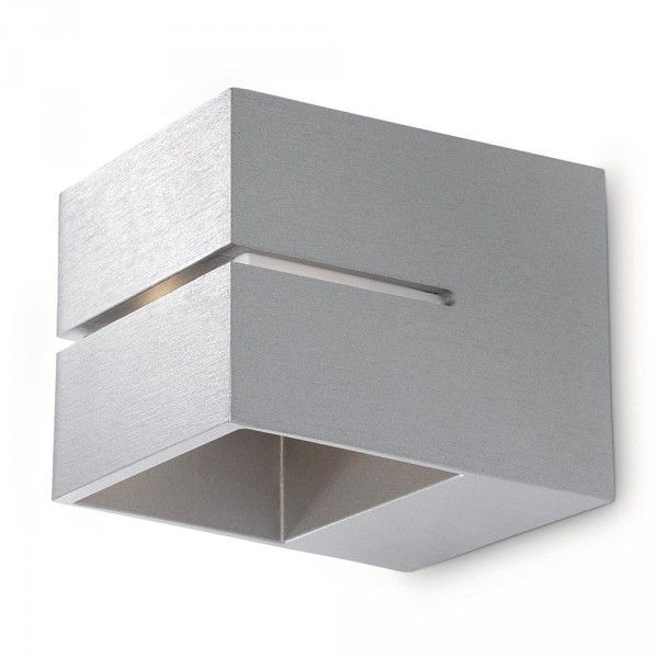 Philips Innoa LED Ledino Up and Down Wall Light - Aluminium from Litecraft