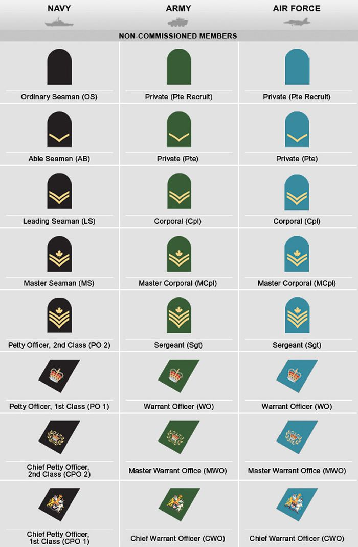 14 best canadian military rank structure images on pinterest