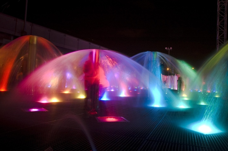 Medellín Light Festival, Colombia #lights #water #fountain