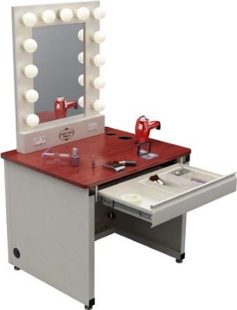 Broadway Lighted Vanity Mirror Desk : 1000+ images about Vanity Set on Pinterest Vanity desk, Black vanity set and Lighted vanity mirror