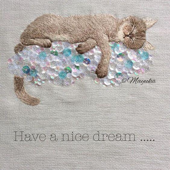 Amazing embroidery by Mayuka Morimoto Oyanagi: