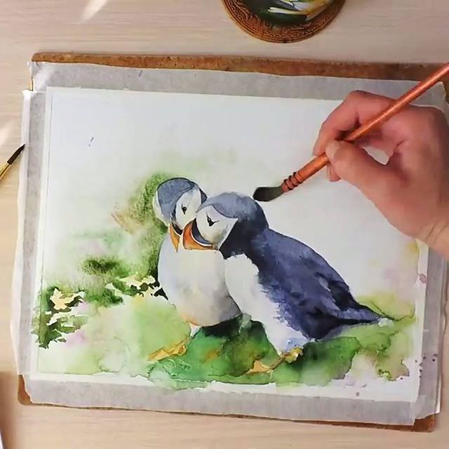 Watercolorist: @svekla_art  #waterblog #акварель #aquarelle #painting #drawing #art #artist #artwork #painting #illustration #watercolor #aquarela