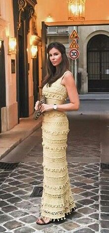 Maxi Crochet dress by Vanessa Montoro