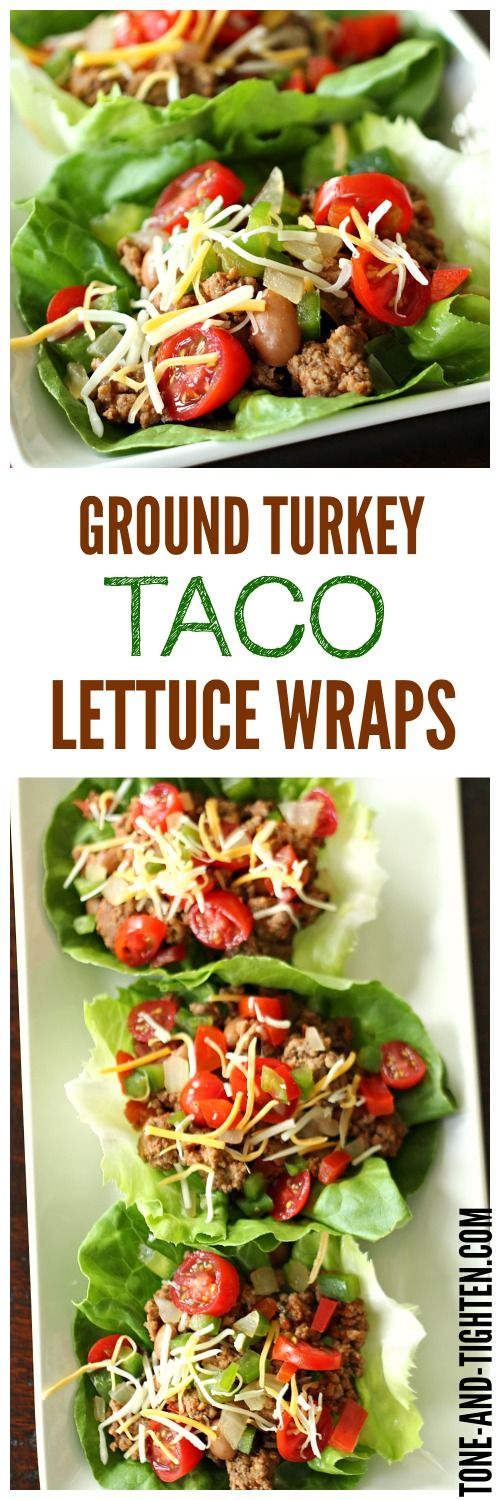 Ground Turkey Taco Lettuce Wraps from Tone-and-Tighten.com