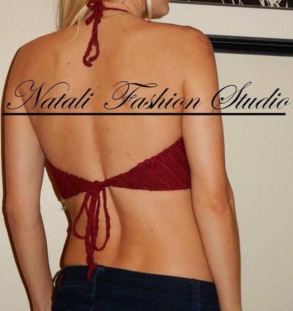 Traje de baño bikini halter top traje de por NataliFashionStudio