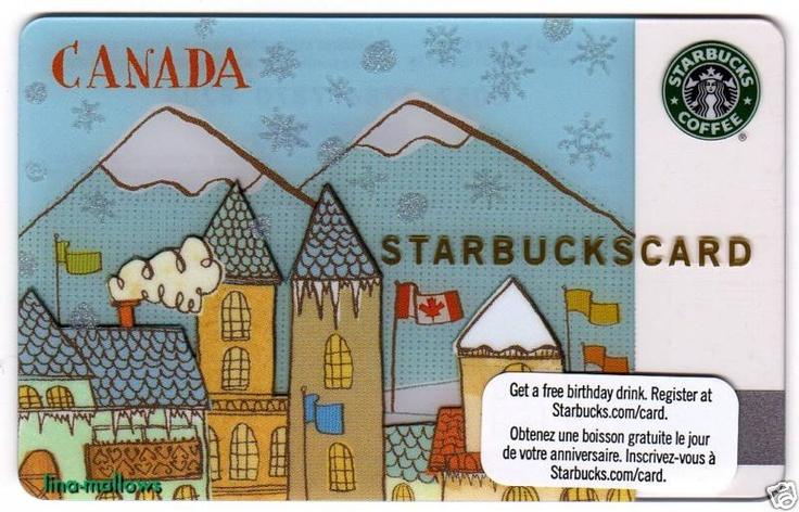 STARBUCKS Canada 2010 Winter Olympics Card