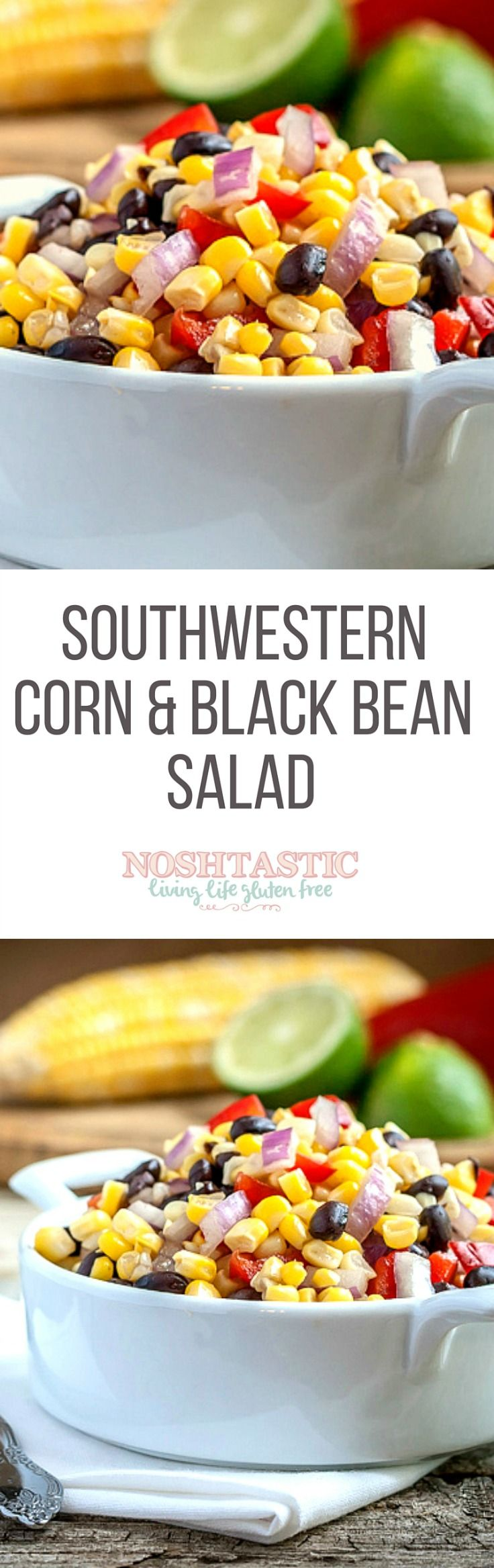 You'll love this quick and easy Black Bean and Corn Salad! It's low in calories and fat free, a perfect summer side dish to complement grilled foods