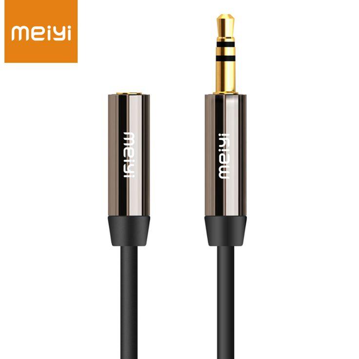 MEIYI 3.5mm Jack Aux Kabel Audio Aux Mężczyzn do Kobiet Extension kabel Pozłacane Kabel Pomocniczy dla Samochodów/Telefon/Odtwarzacze Multimedialne