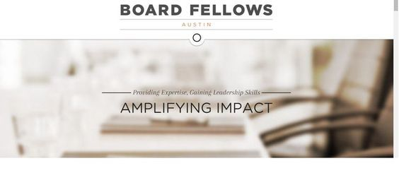 Board Fellows - Impacting community while learning