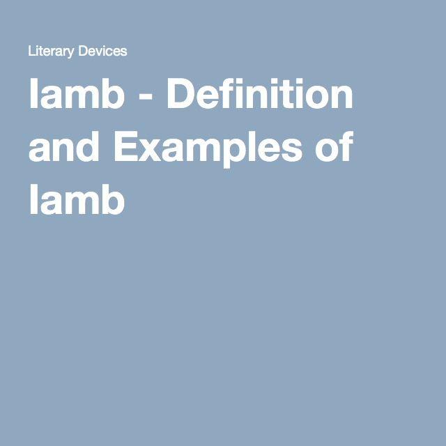 Iamb definition example essay