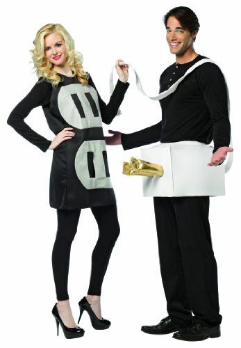 Plug and socket is a humorous couples costume This comes as two separate tunics packed together