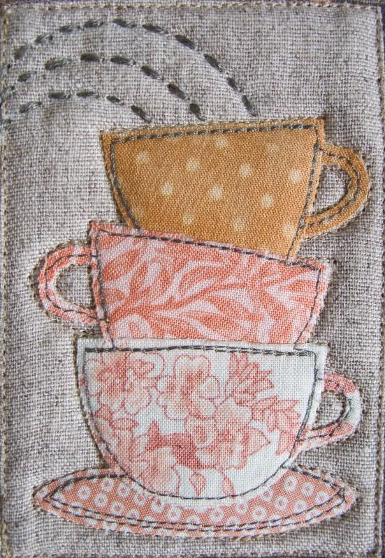 "pictureperfectforyou:    ""TeaTeaTea"" MugRug (door PatchworkPottery)"