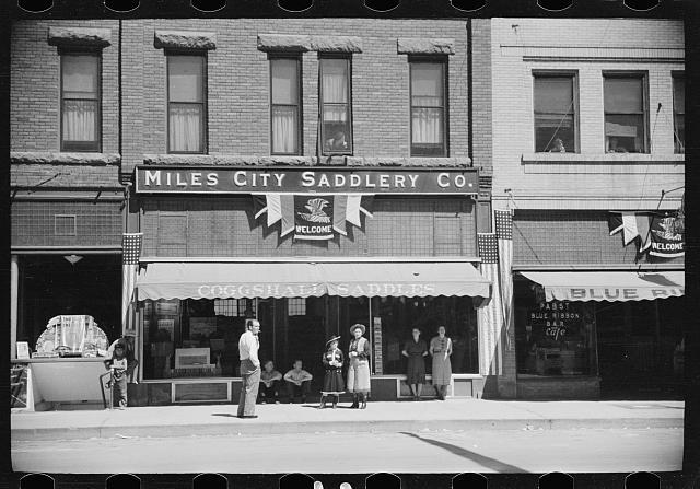 Saddle shop, Miles City, Montana
