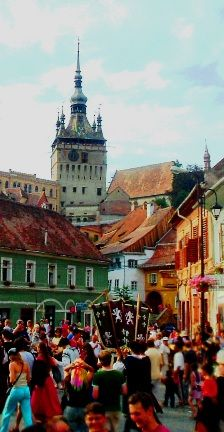 Medieval festival in Sighisoara, the best preserved and still inhabited medieval citadel in Europe