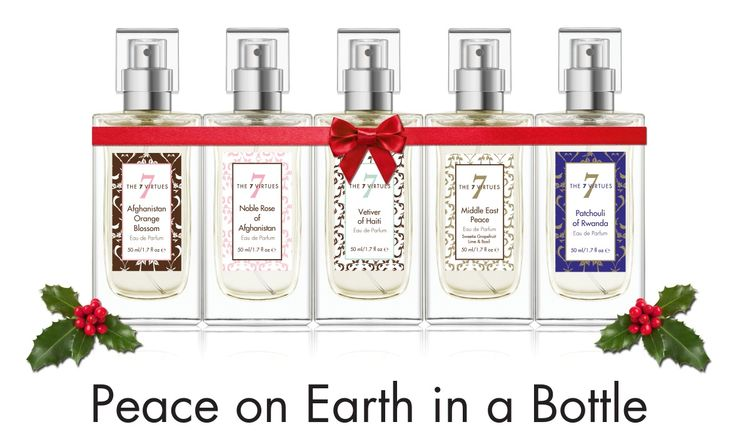 We found a way to have peace in a bottle. Experience our fragrances that support nations rebuilding. #PhahalateFree #Vegan Top Game Changer Dragons' Den. EDP Spray $70 #GiftsThatGive www.the7virtues.com