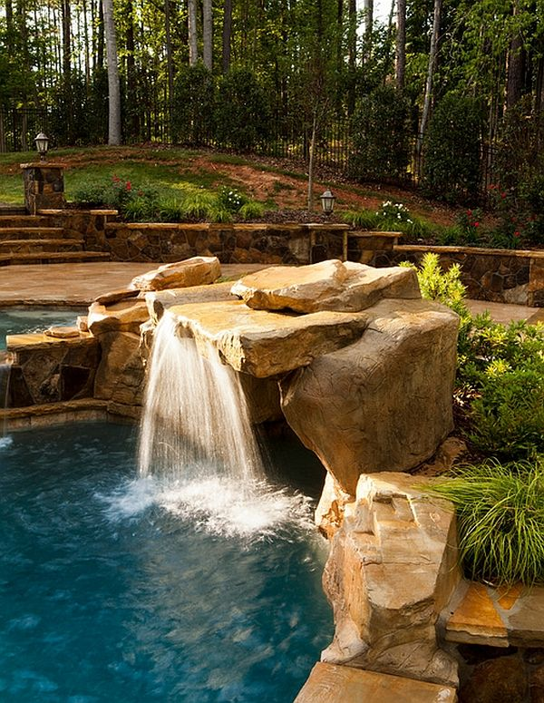 Breathtaking Pool Waterfalls To Fashion A Drop-Dead Gorgeous Backyard