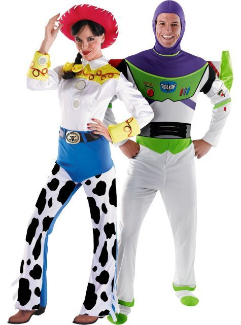 Deluxe Jessie and Deluxe Buzz Lightyear Toy Story Couples Costumes  sc 1 st  Pinterest & 48 best Halloween Costumes images on Pinterest | Male witch ...