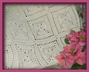 Angel AfghanCrochet Blankets, Angels Squares, Free Pattern, Crochet Afghans, Free Crochet, Granny Squares, Angels Afghans, Afghans Pattern, Crochet Pattern