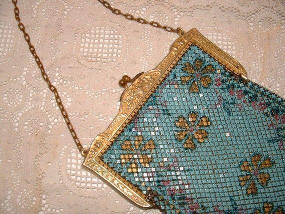 Art Deco Mandalian esmalte Mesh bolso envío gratuito por 1FabFind, $139.00