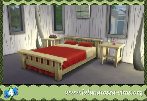 Modified Single Mission Bed - LaLunaRossa and The Sims